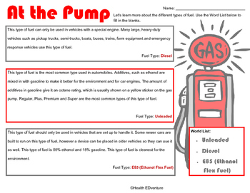 Learning About Fuel for Our Cars