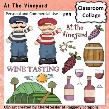 At The Vineyard clip art - personal & comm use wine grapes C. Seslar