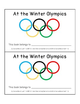 At The Winter Olympics Sight Word Predictable Pattern Readers: 7 Text Options