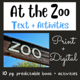At The Zoo: Mini Book #1 (Fry Sight Words)