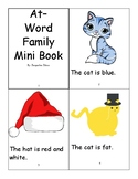 At- Word Family Mini Book
