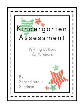 At a Glance Writing Assessment for Numbers and Letters
