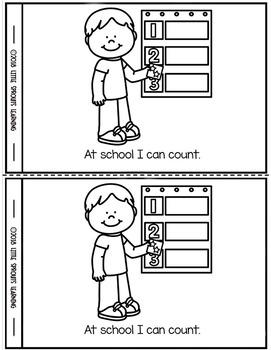 At school I can... - emergent reader