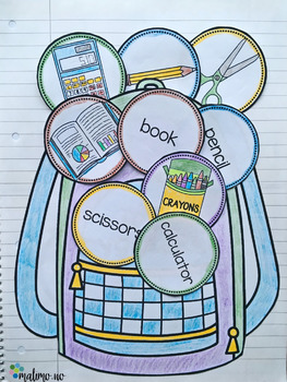 At School - Interactive Notebook Activity and Game