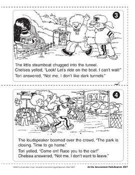 At the Amusement Park/El parque de atracciones