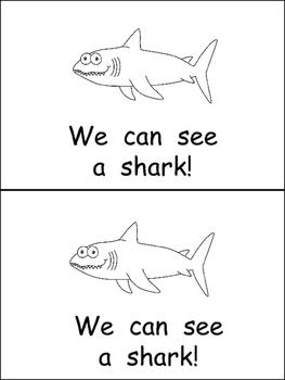 At the Aquarium Emergent Reader for Kindergarten Science- Level A