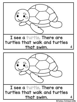 At the Aquarium ~ Marine Animal Reader & Sorting Page