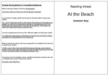 At the Beach - 5th Grade Reading Street