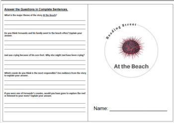 At the Beach - 5th Grade Reading Street
