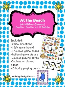 At the Beach Addition Games- Doubles, Doubles +1, 10 Buddies