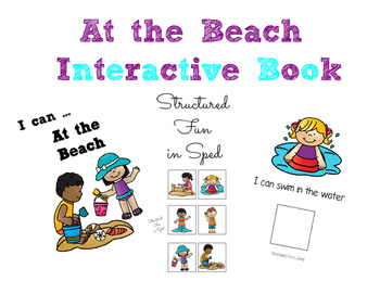 At the Beach, I Can...Interactive Book