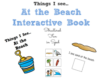 At the Beach, I See...Interactive Book