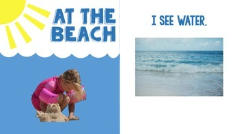 At the Beach Interactive Book