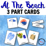 At the Beach Montessori 3 Part Cards