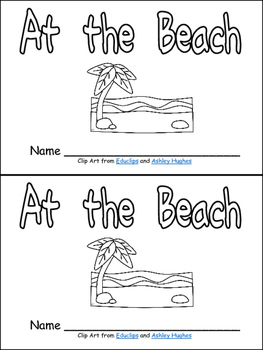 At the Beach- Nonfiction Leveled Reader- Level C Kindergar