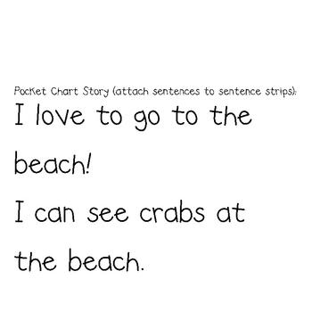 At the Beach Pocket Chart