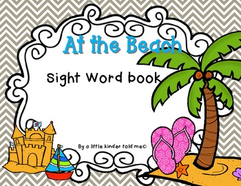 At the Beach Sight Word Book