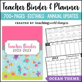 Ocean Teacher Binder