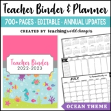 Ocean Teacher Binder