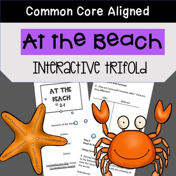 At the Beach Trifold Worksheet (5th Grade Reading Street 2011 Edition)