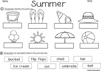 At the Beach- Vocabulary Pack