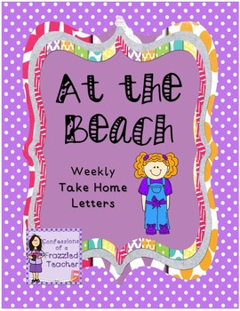 At the Beach Weekly Take Home Letters (Scott Foresman Reading Street)