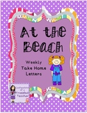 At the Beach Weekly Take Home Letters (Scott Foresman Read