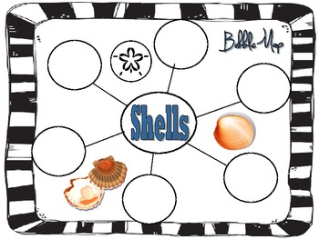 At the Beach graphic organizers- Great for Summer!