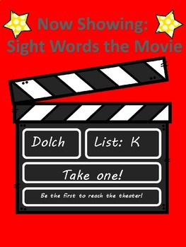 At the Cinema: Kinder Dolch Sight Word Game
