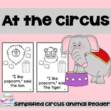 At the Circus Emergent Reader Book {Young Readers, ESL, EFL}