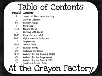 At the Crayon Factory  1st Grade Harcourt Storytown Lesson 28