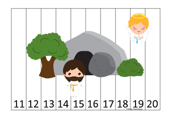 At the Cross 11-20 Sequence Puzzle preschool Bible curriculum game. Christian ma