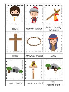 At the Cross 3 Part Matching preschool Bible curriculum ga