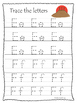 At the Cross A-Z Tracing preschool Bible curriculum worksheet. Preschool printab
