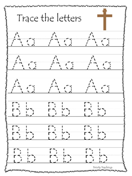 At the Cross A-Z Tracing preschool Bible curriculum worksh