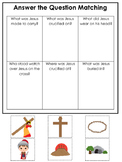 At the Cross Answer the Question preschool Bible curriculum game. Preschool prin