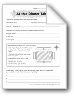 At the Dinner Table (Thinking Skills)
