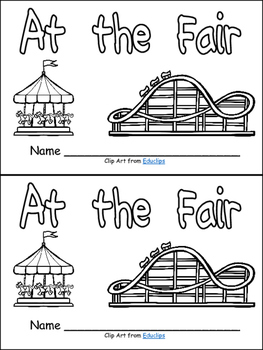 At the Fair (Carnival)- Nonfiction Leveled Reader- Level C Kindergarten- Summer