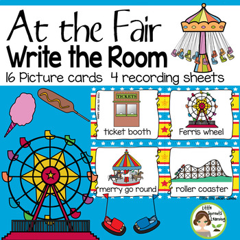 At the Fair (Carnival) Write the room-16 cards four versions, 4 recording sheets