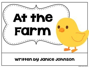 At the Farm Animal Reader & Paperless BOOM task cards