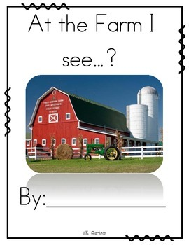 At the Farm I see... Guided Writing Book
