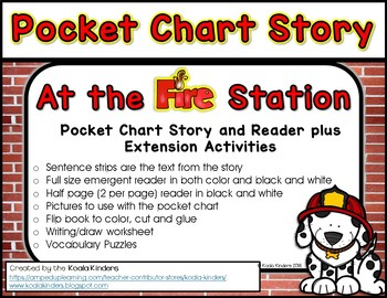 At the Fire Station Full Size Book and Extension Activities