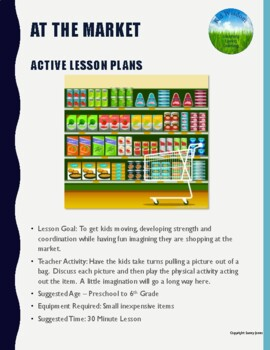 At the Market - Active Lesson Plan