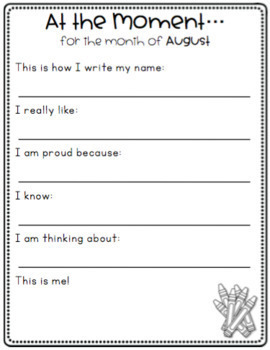Back to School Activities | Memory Book | All About Me