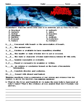 At the Mountains of Madness Worksheets, Art Projects, & Assessment Unit