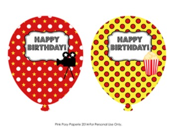 At the Movies Classroom Decor Birthday Balloons