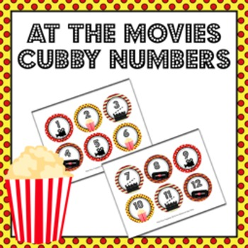 At the Movies Cubby Number Labels 1-30