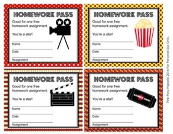 At the Movies Hollywood Homework Passes