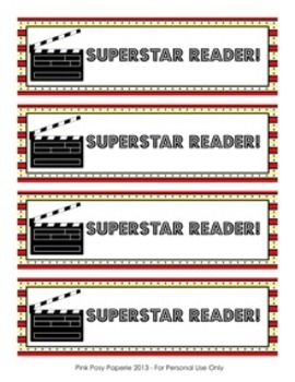 At the Movies Hollywood Superstar Bookmarks