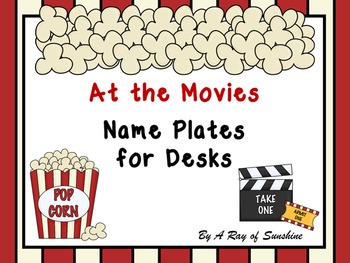 At the Movies ~ Name Plates for Desks